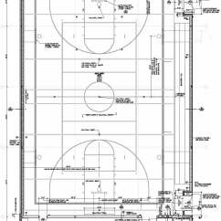 High School Basketball Court Diagram Combination Drain And Vent Facility Kent-meridian Auxiliary Gym Floor Plan