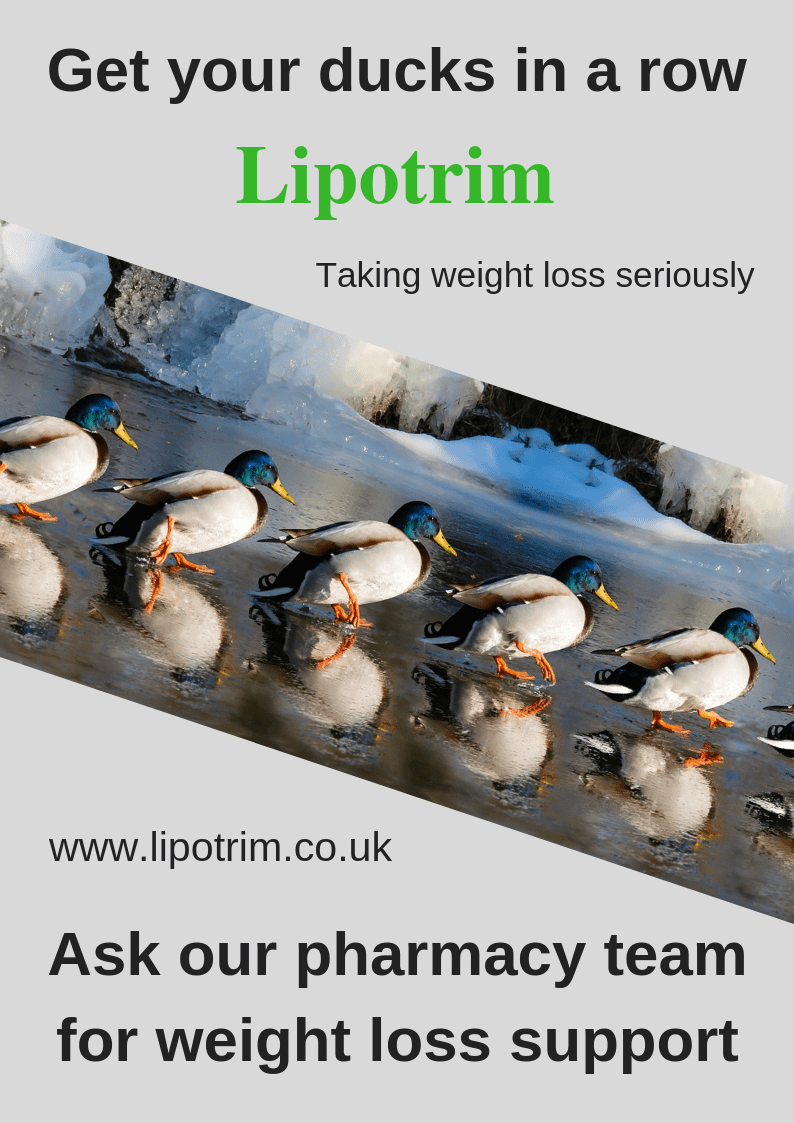 Get your ducks in a row - Lipotrim poster