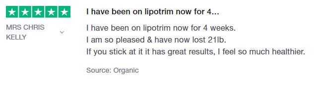 Mrs Chris Kelly Lipotrim UK review on Trustpilot