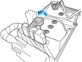 救援車のエンジンを止めて、ブースターケーブルを次の順で接続します。