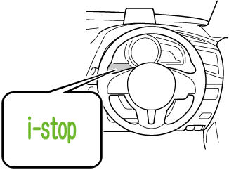 エンジンが再始動すると、i-stop表示灯 (緑) が消灯します。