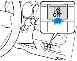 レーンキープ・アシスト・システム (LAS) &車線逸脱警報システムを停止するときは、レーンキープ・アシスト