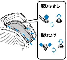 ソケットを反時計回りにまわして取りはずし、電球を抜き取ります。