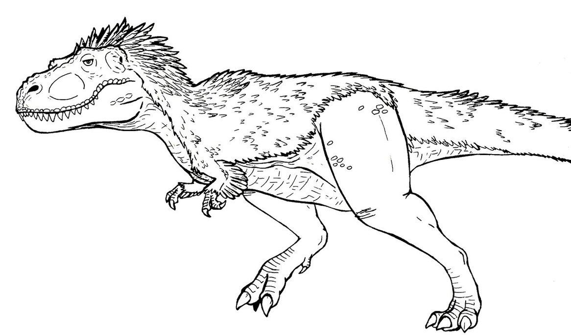 Coloriages à imprimer : T-rex, numéro : 671289