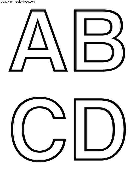 Coloriages à imprimer : Alphabet, numéro : 49472
