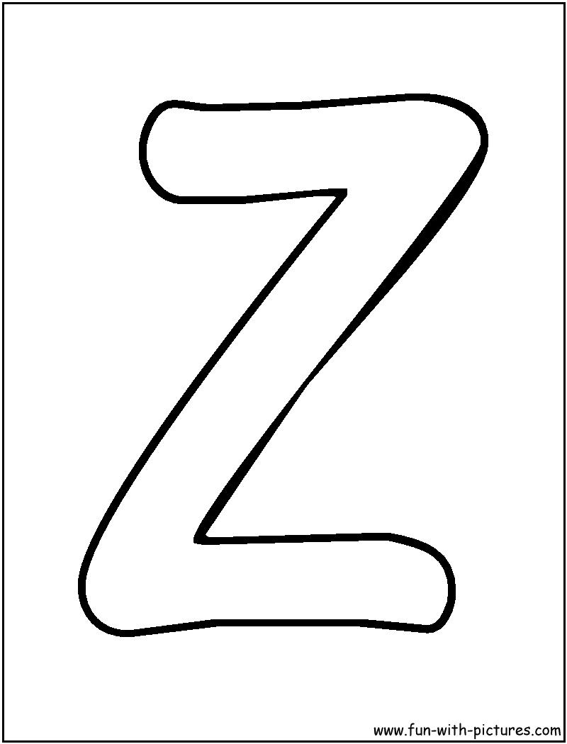 Coloriages à imprimer : Lettre z, numéro : 756223