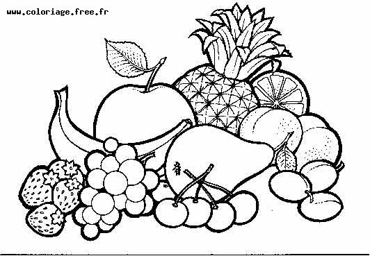 Coloriage A Imprimer Nature Legumes Numero