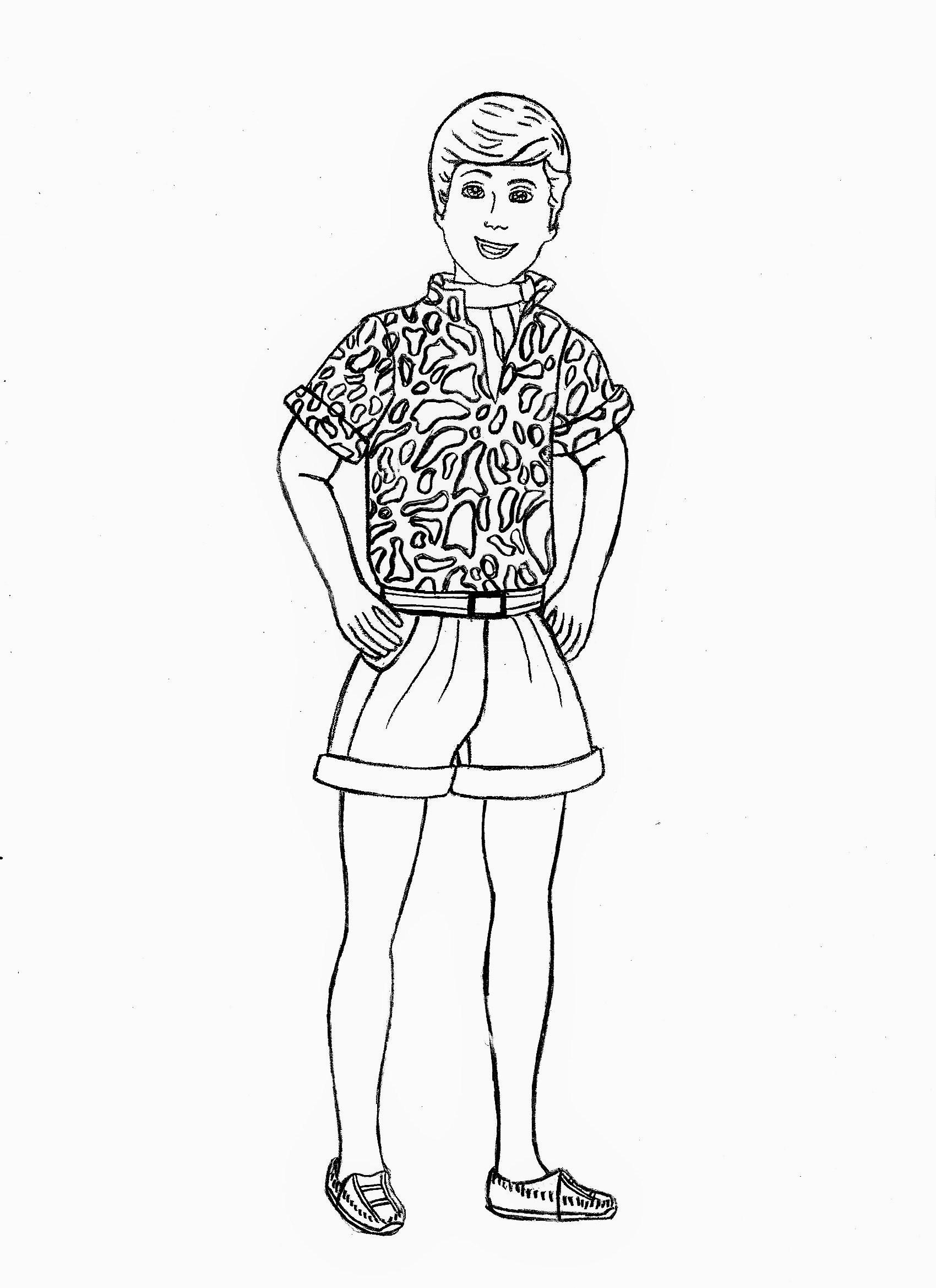 Coloriages Imprimer Barbie Numro 195726