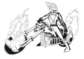 Coloriages à imprimer  Ghost Rider, numéro  17648