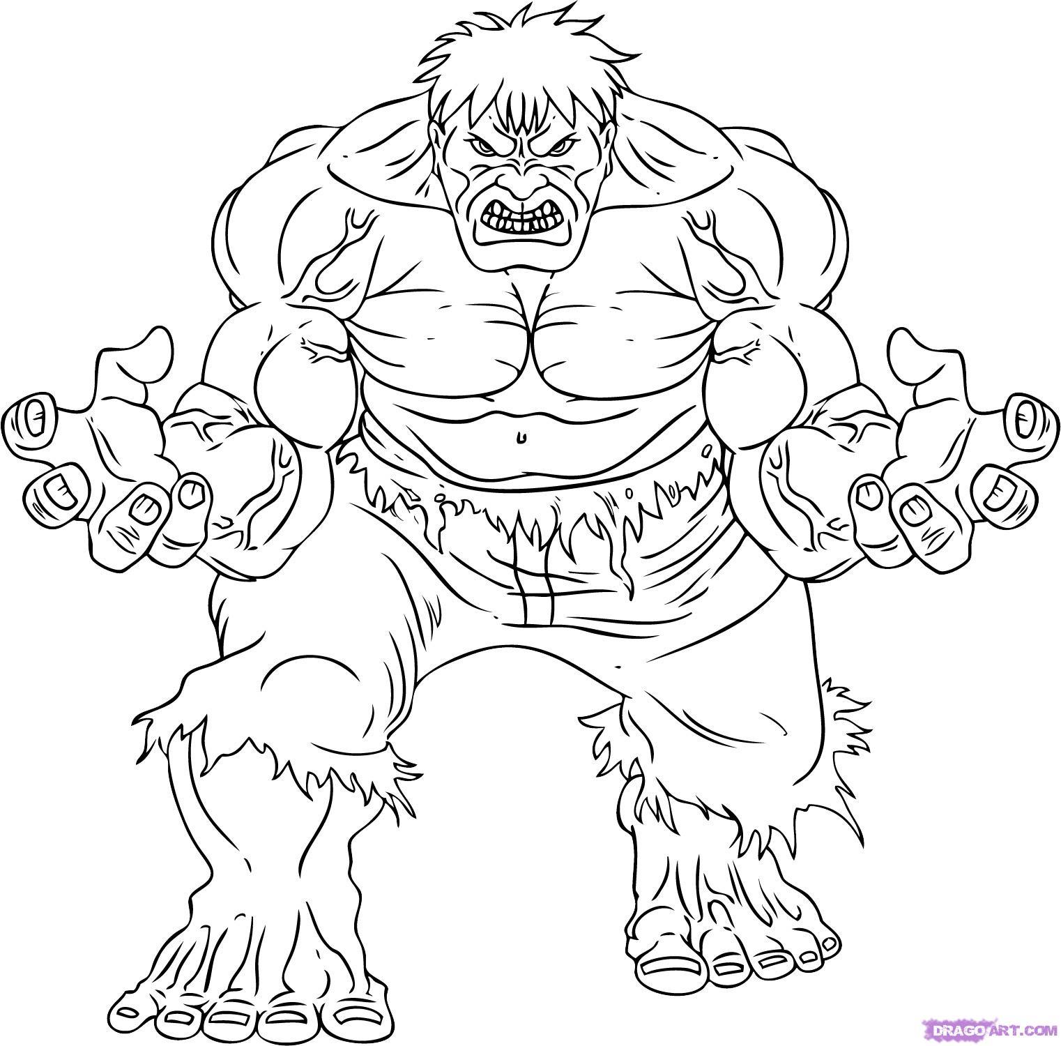 Coloriages à imprimer : Hulk, numéro : 146563