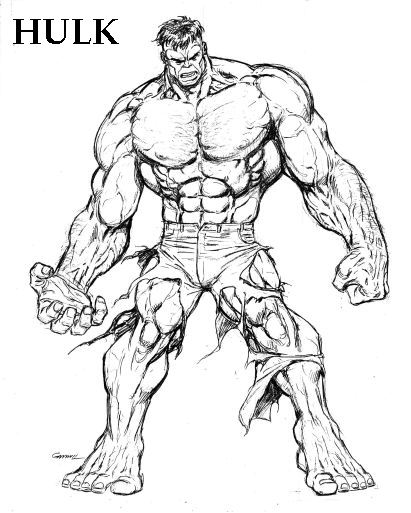 Coloriages à imprimer : Hulk, numéro : 605058
