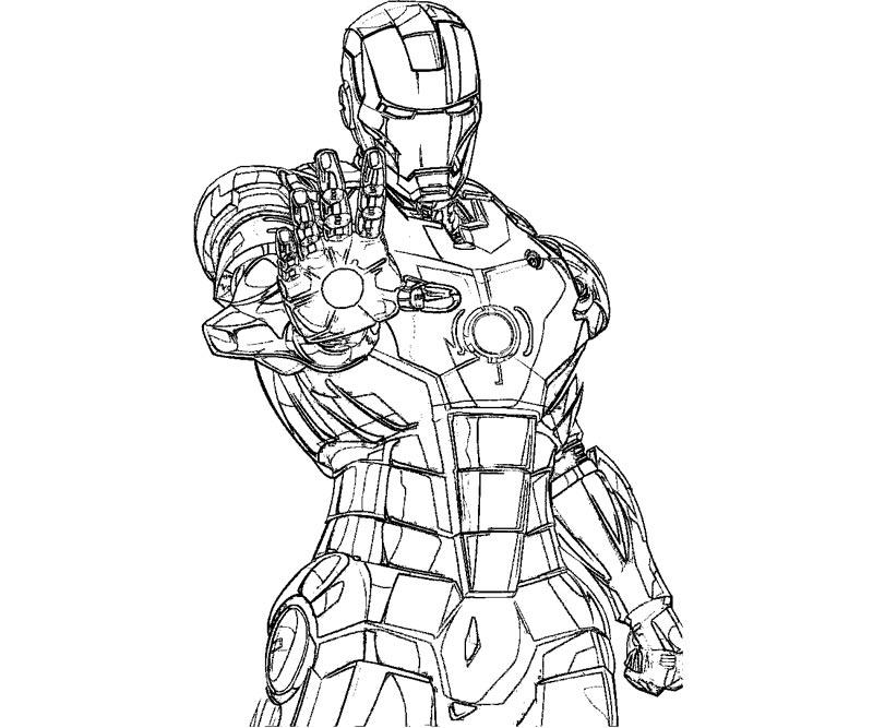 Coloriages à imprimer  Iron Man numéro  572396