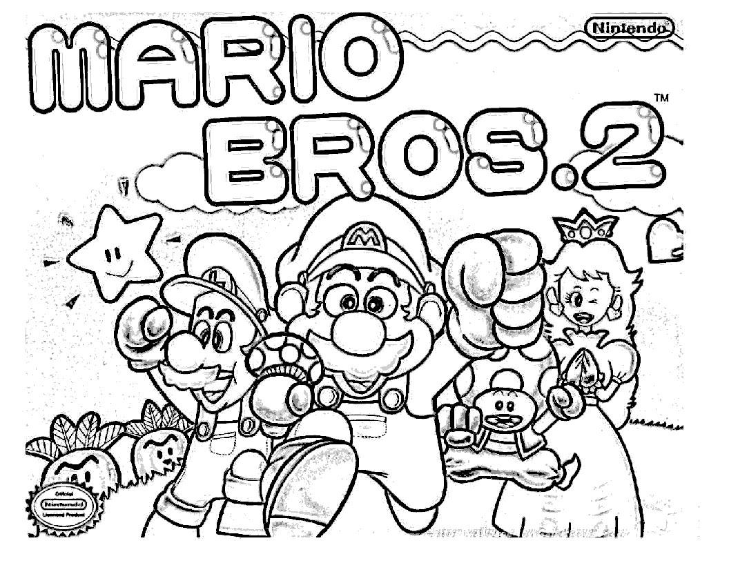 Coloriages à imprimer : Super Mario, numéro : 20154