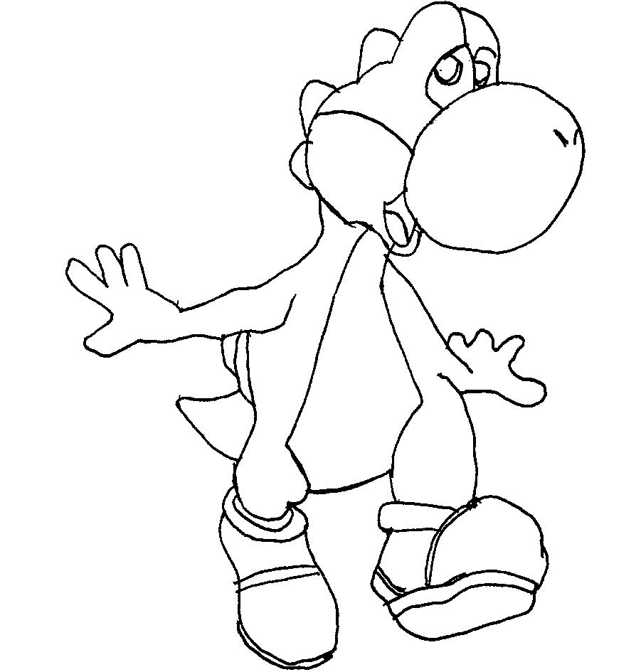 Coloriages à imprimer : Yoshi, numéro : 14955