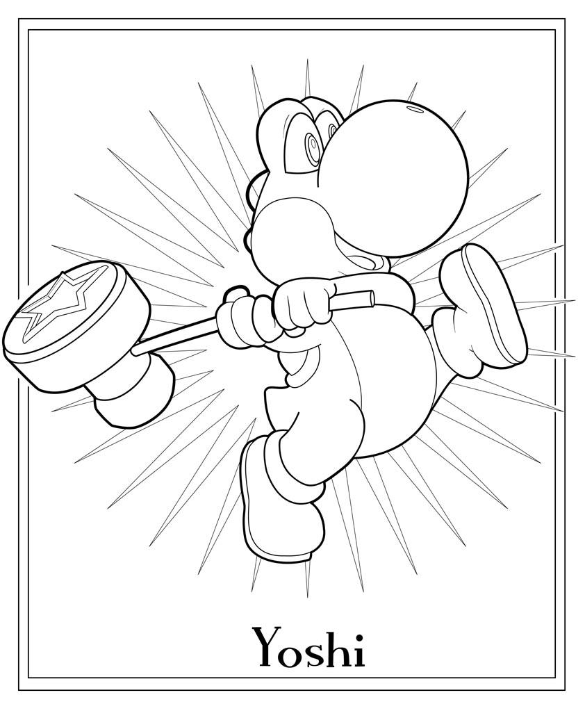 Coloriages à imprimer : Yoshi, numéro : 1874