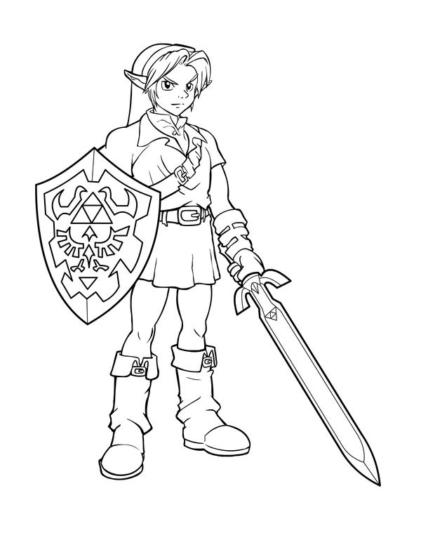 Coloriages à imprimer : Zelda, numéro : 15191