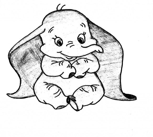 Coloriages à imprimer : Dumbo, numéro : 8