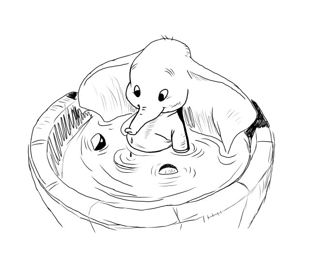 Coloriages à imprimer : Dumbo, numéro : 9bd9aa