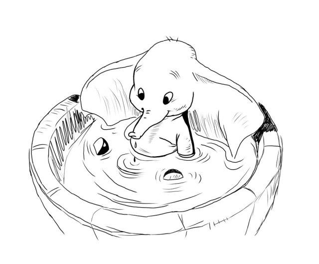 Coloriages à imprimer : Dumbo, numéro : 24