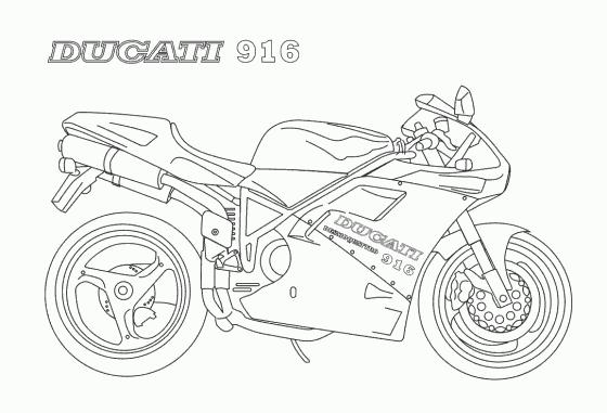 Coloriages à imprimer : Ducati, numéro : 237680