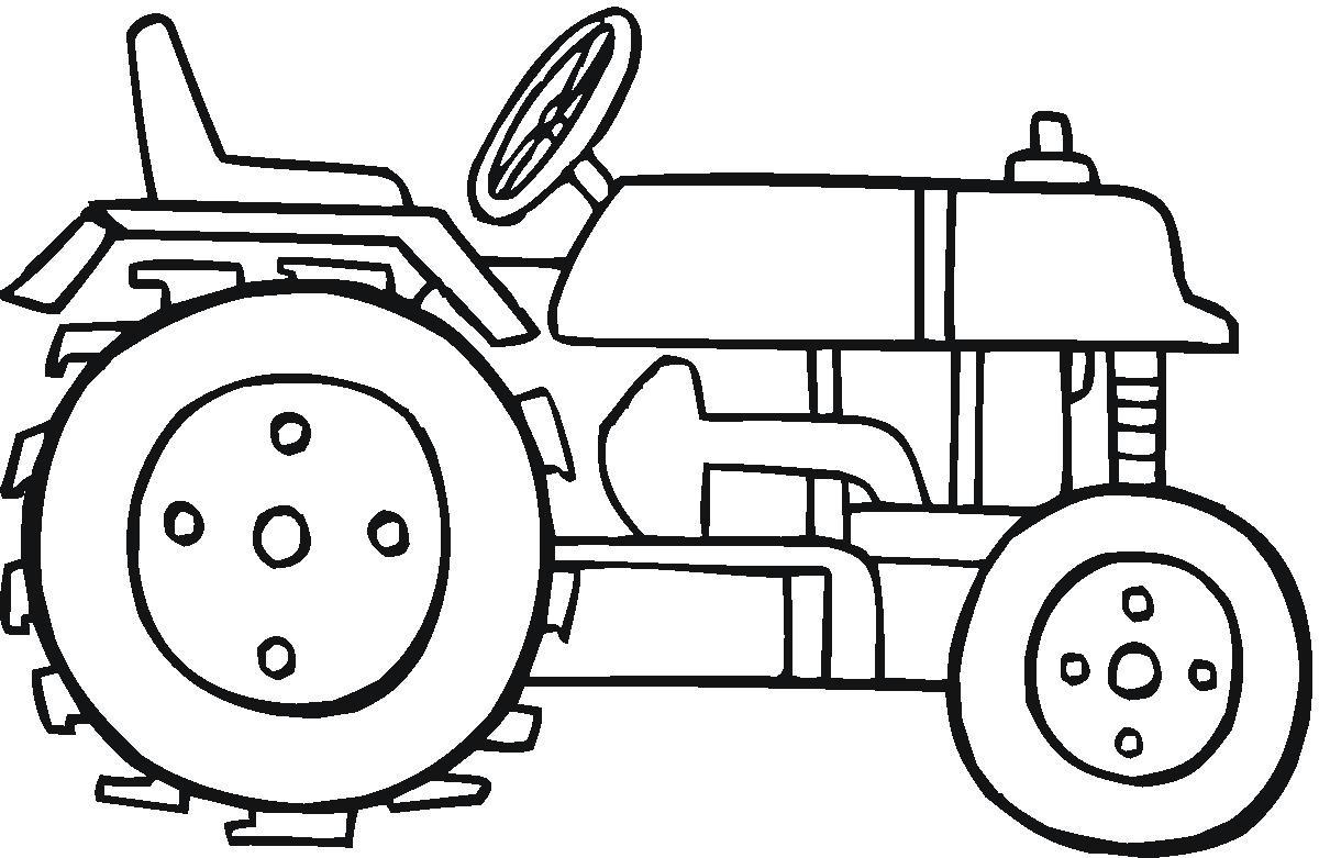 Dessins En Couleurs A Imprimer Tracteur Numero