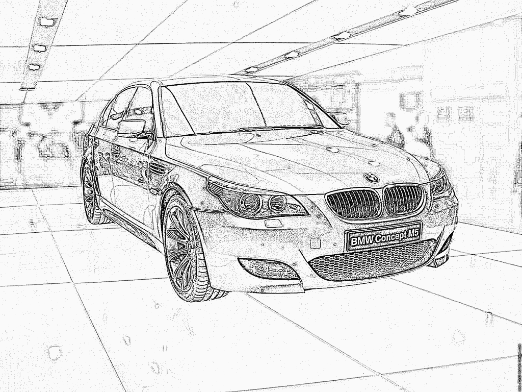 Coloriage De Bmw M5
