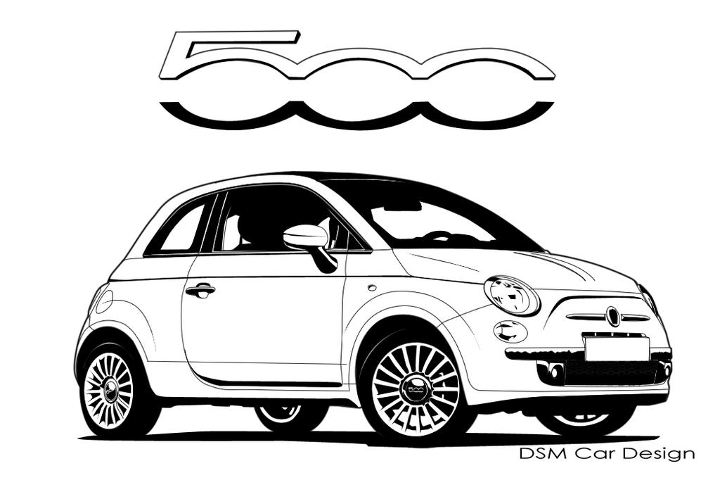 Coloriages à imprimer : Fiat, numéro : 753456
