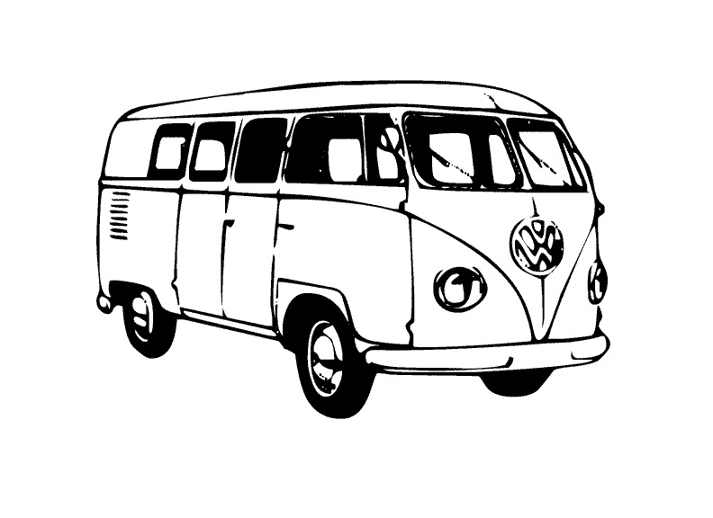Vw Bus Interior Dimensions Sketch Coloring Page