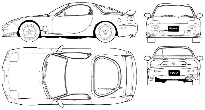 Coloriages à imprimer : Mazda, numéro : 535419