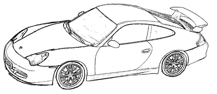 Coloriages à imprimer : Porsche, numéro : 106181