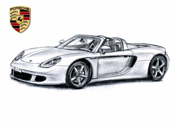 Dessin Couleurs Imprimer Vehicules Voiture Porsche