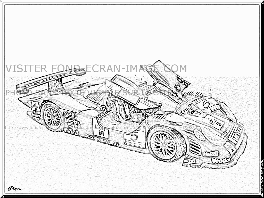 Coloriage Porsche Gt3 Rs