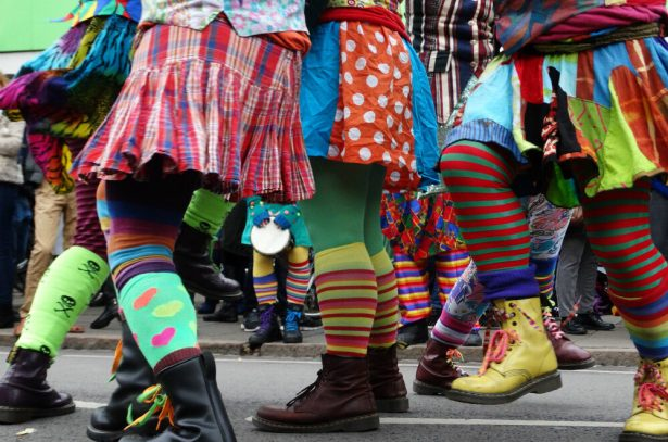 Image of Molly Dancers at a previous Mill Road Winter Fair