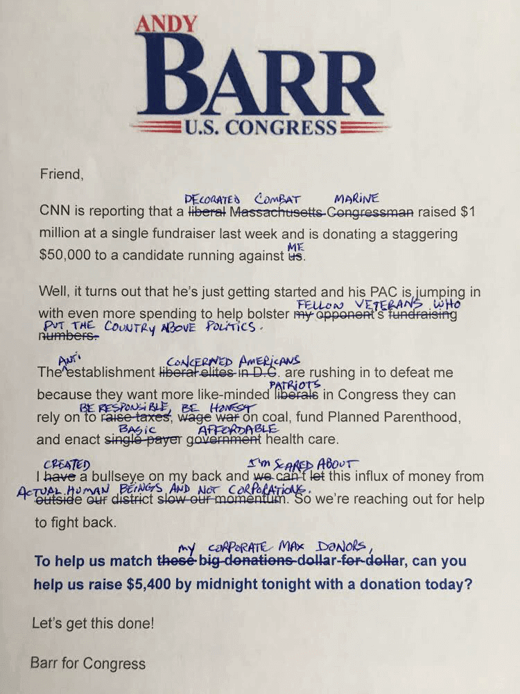 Andy                                   Barr's Letter