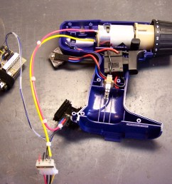 cordless drill motor wired to mosfet speed controller [ 2369 x 1849 Pixel ]