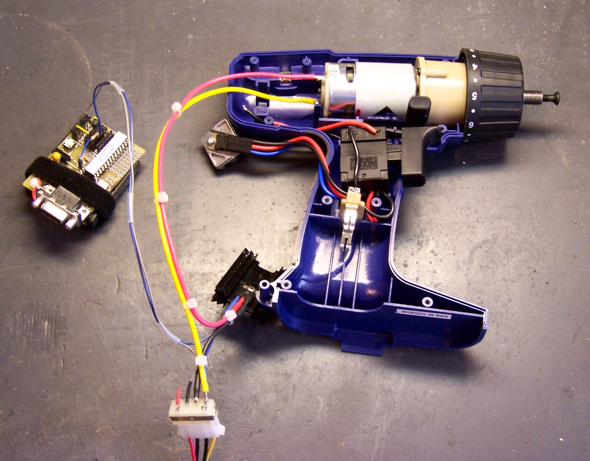 hight resolution of cordless drill motor wired to mosfet speed controller