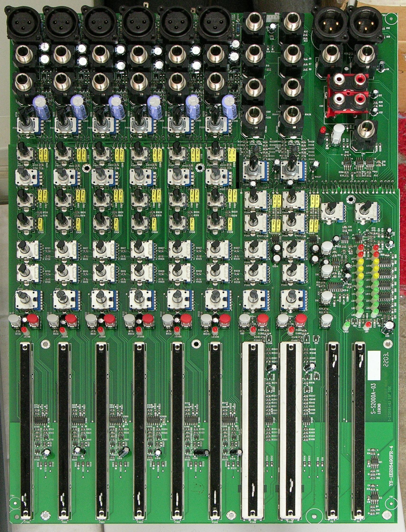 hight resolution of soundcraft spirit e6 mixer main pc board