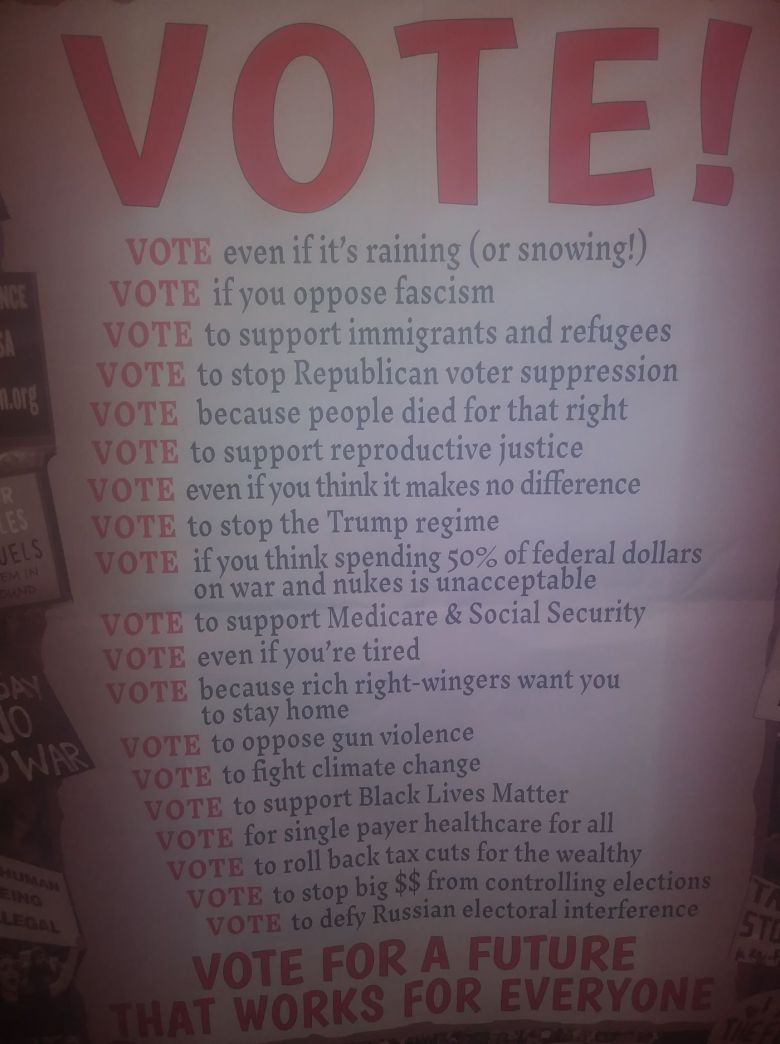 A handout the Pennsylvania GOP says was given to Central High students.
