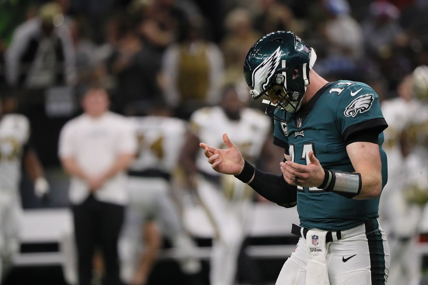 Image result for carson wentz vs saints