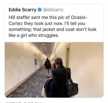 Screenshot of the tweet. It has since been deleted.