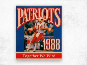 1988 new england patriots together we win - Row One Brand