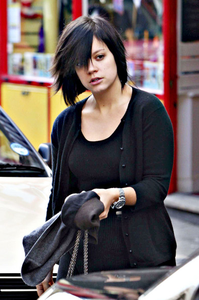 Lily Allen Singing sensation Lily Allen is pictured arriving at a hair salon