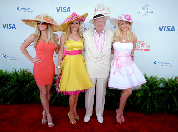 Heff and the ladies at the KY Derby.  Its just too easy, folks.