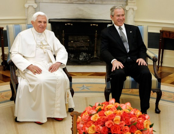 Image result for george w. bush and pope