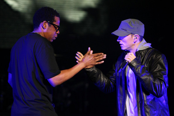 Eminem And Jay Z Inside Their Dressing Rooms Photos Global Grind