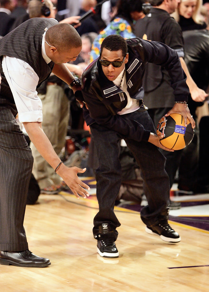 Jay Z In NBA All Star Game Performances And Celebrities
