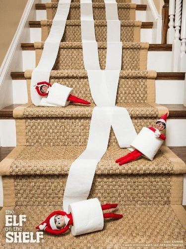 Getting Naughty With Toilet Paper Elf On The Shelf Ideas