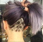 checkered lines - undercut hair