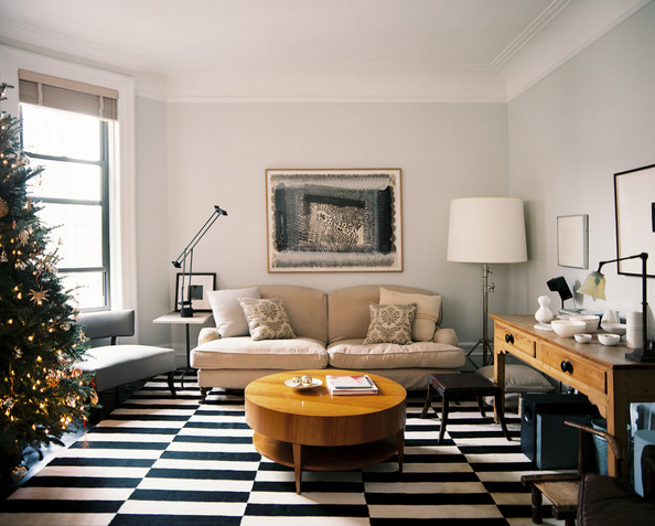 small living room with no coffee table furniture layout corner fireplace interior design rules you should break inspiration lonny while it s hard to quibble a beautiful chandelier especially one on dimmer there is law that says must have an overhead light