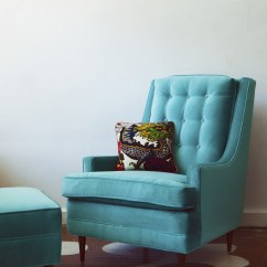 Turquoise Wingback Chair Special Needs Bean Bag Home Makeover Photos 5 Of 13
